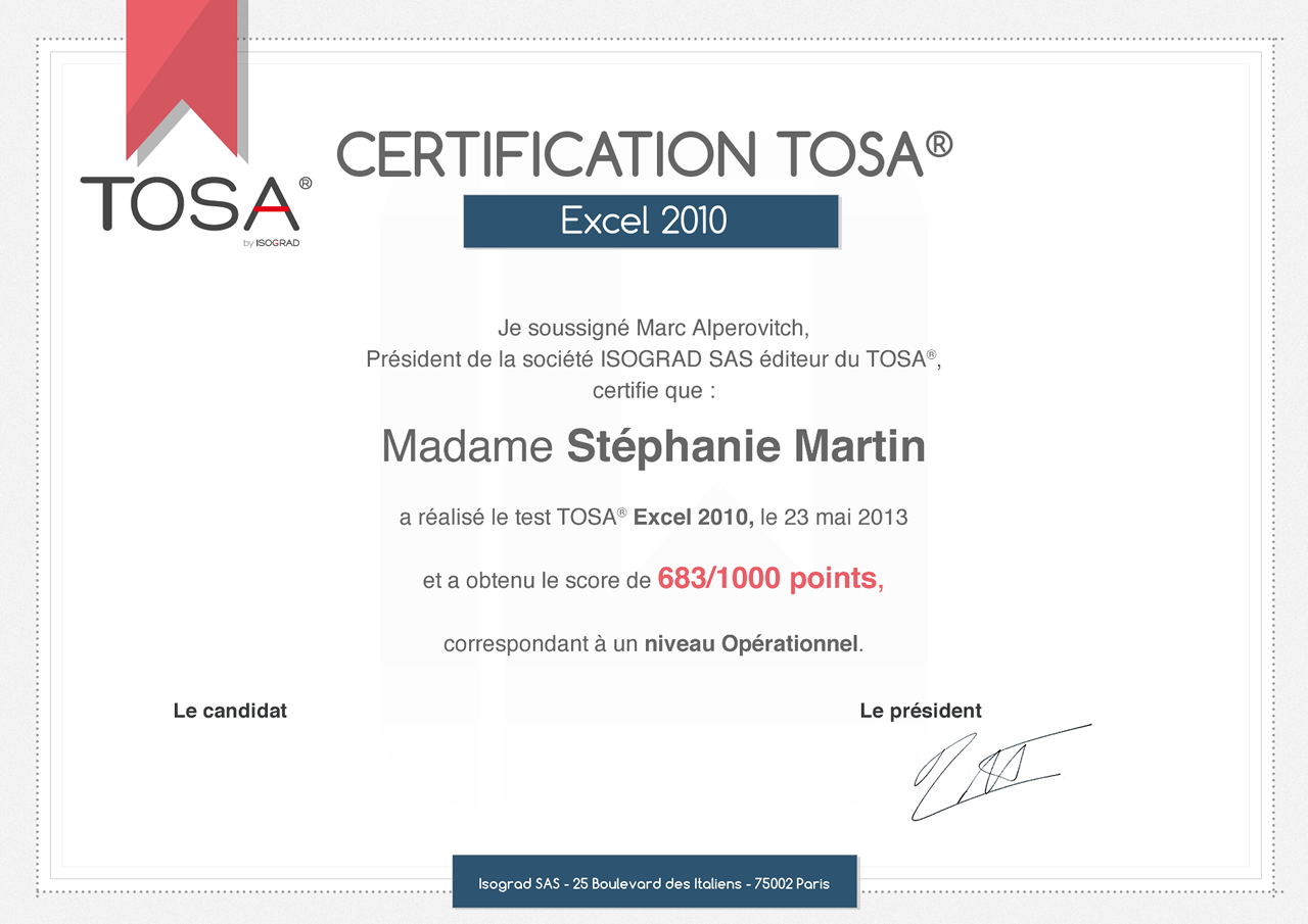 formations certifiantes cpf - pcie - tosa